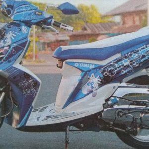 Yamaha Soul GT dengan Balutan Sonic The Hedgehog