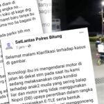 Viral Polisi Tilang Motor Parkir, ini Klarifikasi Polres Bitung